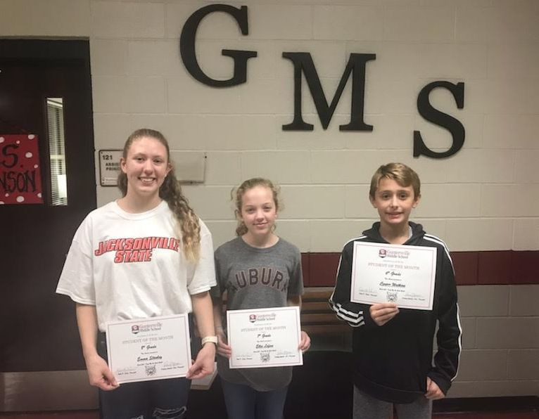 GMS October Students of the Month