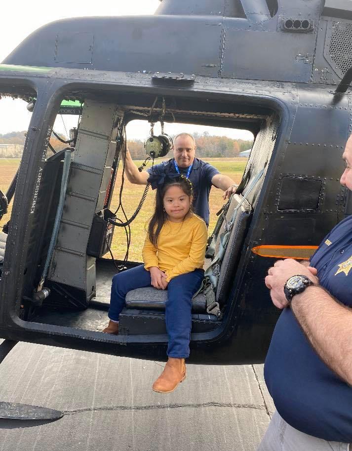 Douglas Learning Center Girl in Helicopter