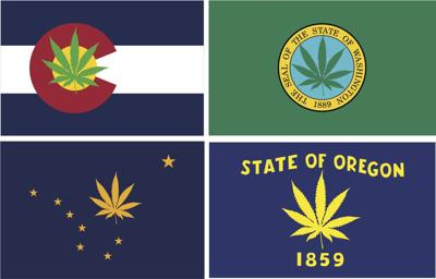 Cannabis state flags