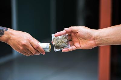 Cannabis and cash exchange