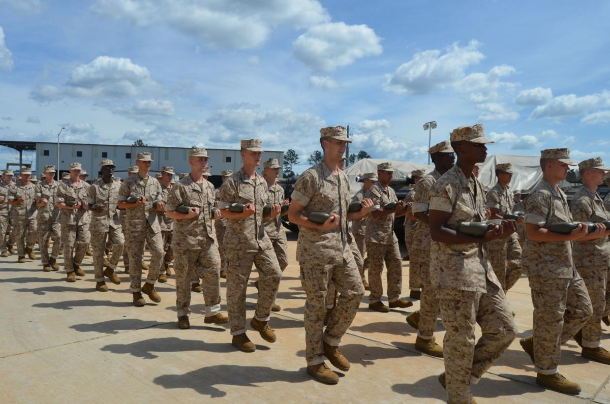 Parris Island recruits make temporary home at Marine Corps Logistics Base-Albany