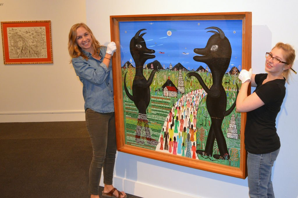 Visionary art: Howard Finster exhibit at Albany museum includes works owned by Lee County couple