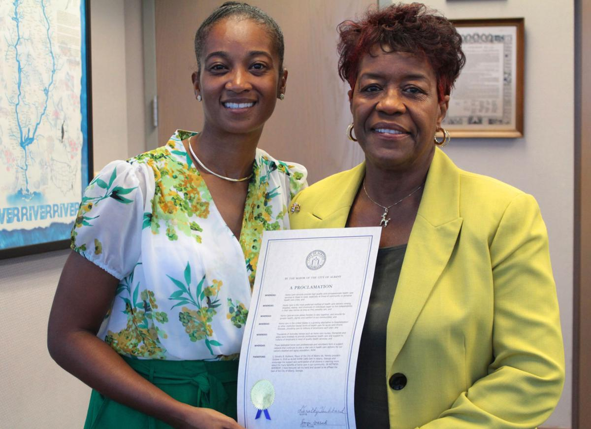 Alive Home Care receives proclamation from Albany Mayor Dorothy Hubbard