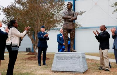 The first African-American fighter pilot now has a statue at an aviation museum in Georgia