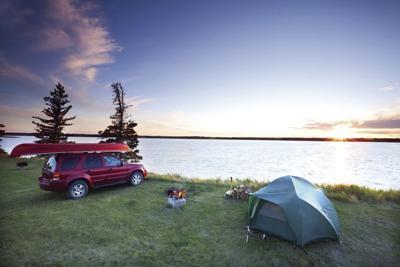 Morning camping