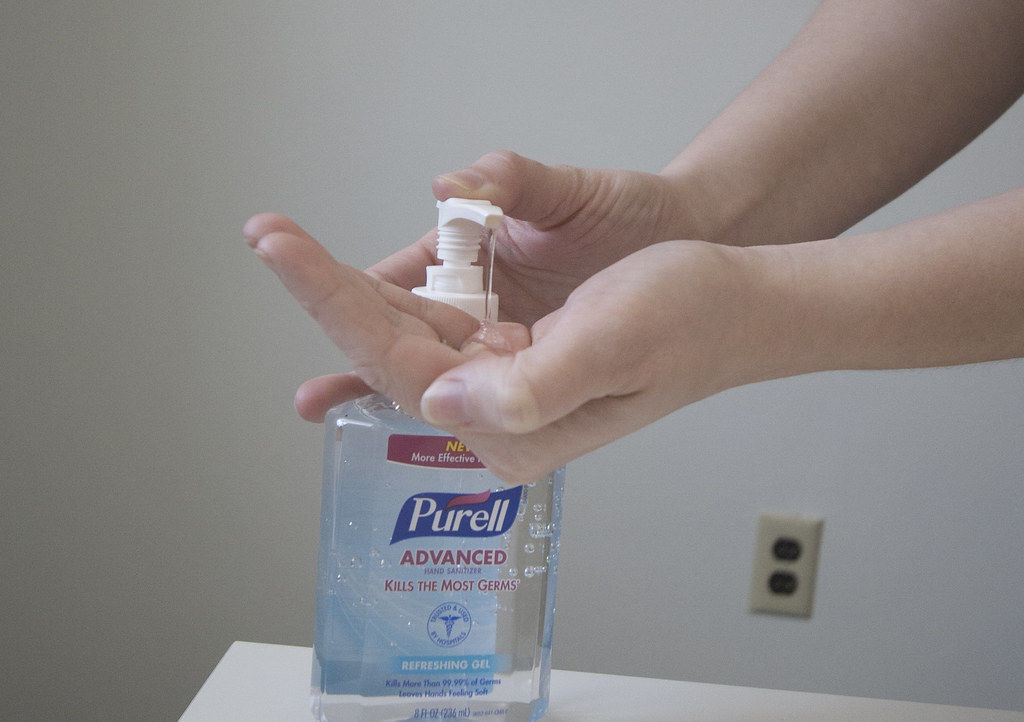 Hand sanitizer is your friend.