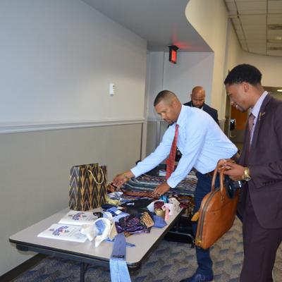 Dougherty County middle school students tie one on during annual mentoring event