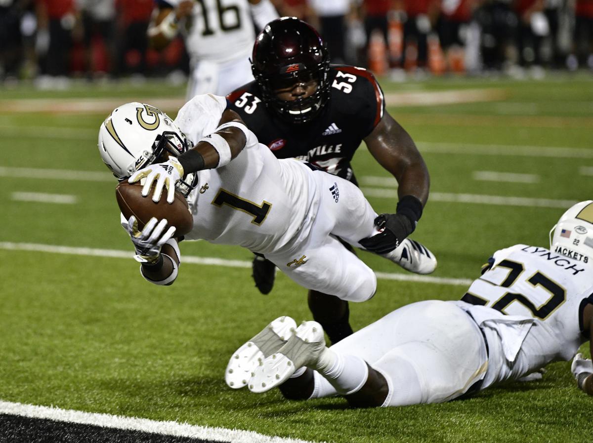 Georgia Tech Runs Over Louisville 66 31 Sports Albanyherald Com