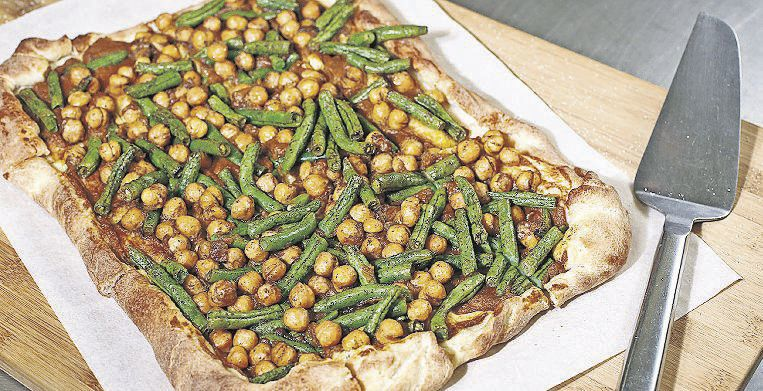 Pumpkin Chickpea Holiday Pizza