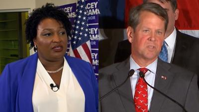 Gubernatorial candidates Stacey Abrams, Brian Kemp