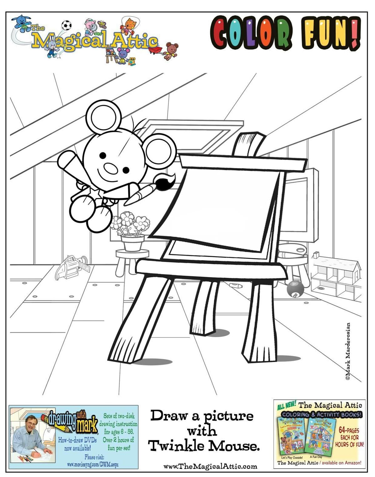 Draw a picture with Twinkle Mouse