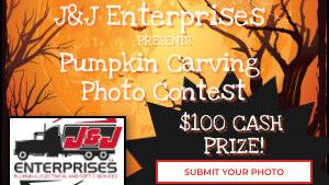 Submit your photo to the J&J Enterprises Pumpkin Carving Contest