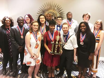 Westover Academic Decathlon team places third in state championship