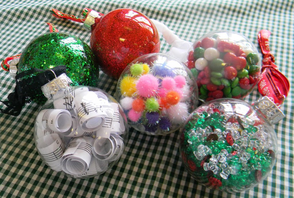 A HOLIDAY BALL Five Ideas For Making Christmas Ornaments From Clear Glass Balls