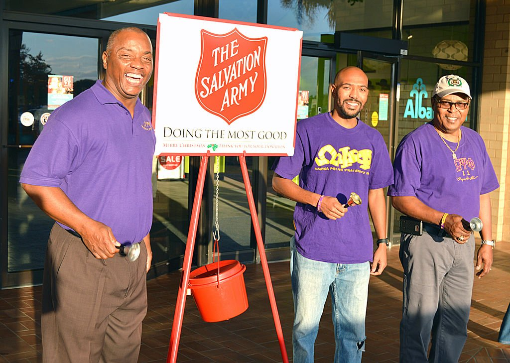 Omega Psi Phi brothers are ringin' those bells