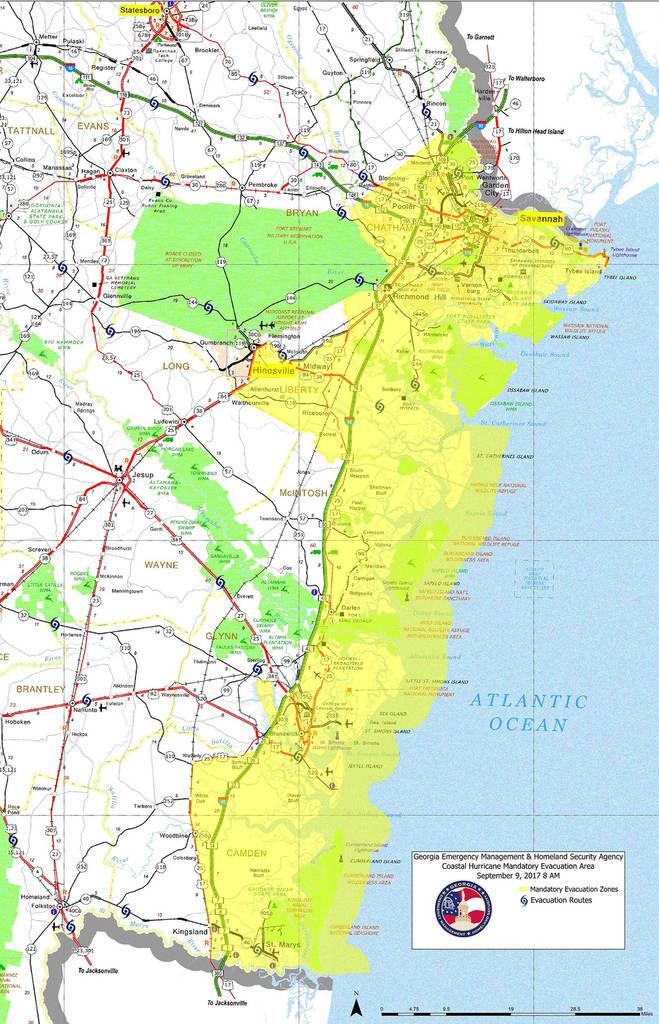 Evacuation Of Georgia Coast Begins Local News Albanyheraldcom - Map of georgia coast