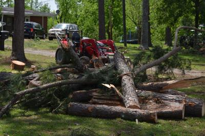 Monday morning storm rips roof from Mitchell County residence, downs trees