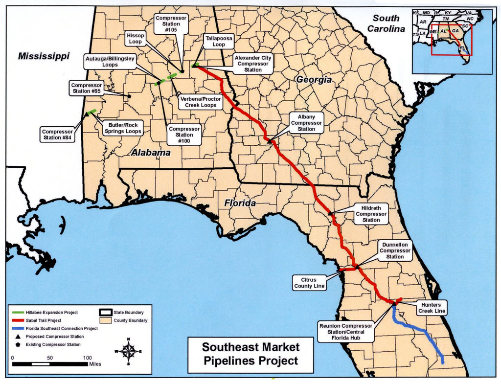 Natural Gas Florida Map
