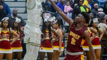 FINAL FOUR;  Terrell County's Jamarkeis Allen leads Greenwave past Dooly County