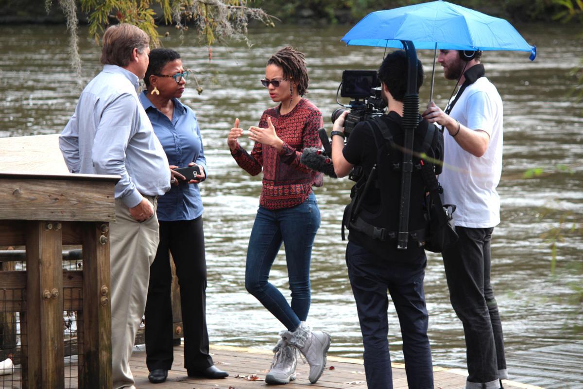 Documentary crew films in Albany