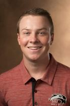 Golfer Kyle Slattery shows determination on the course