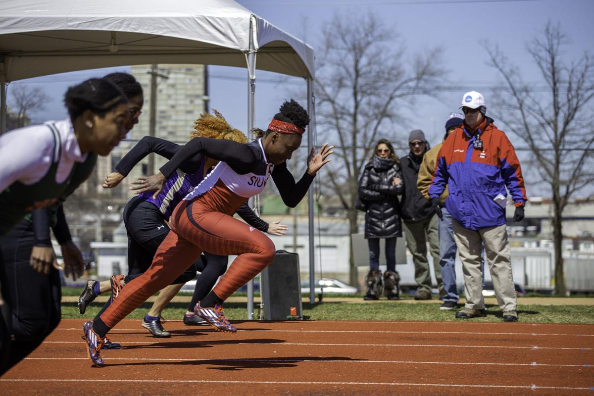 Track and field at Billiken Invitational April 7, 2018