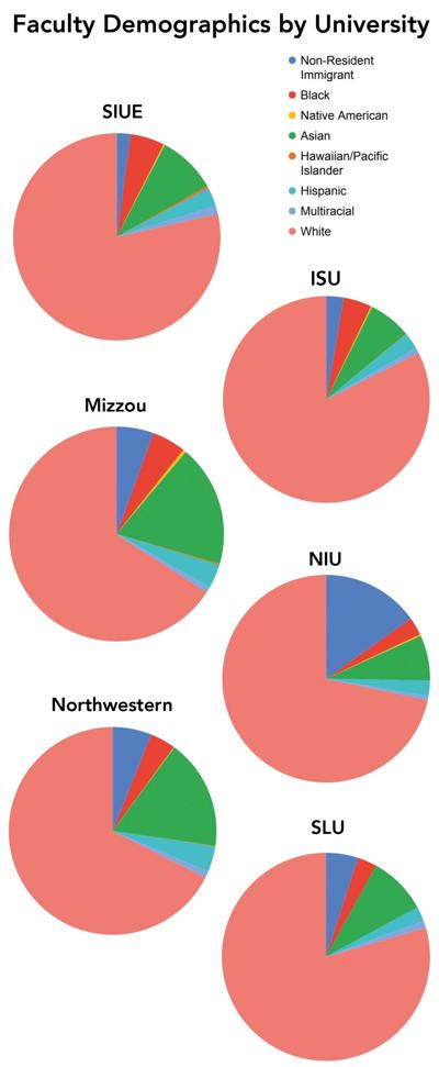Faculty demographics by university