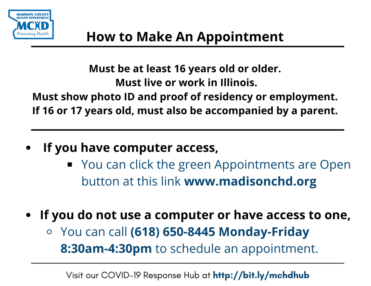 How To Make An Appointment - 3-29-2021