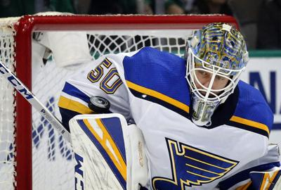 Late goals allow Blues to avoid loss against hapless Red Wings