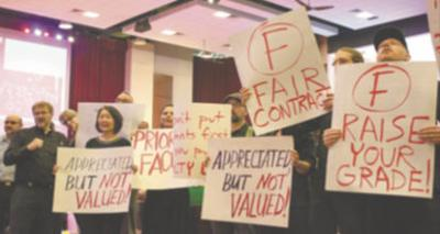 Faculty Association Protest