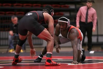 Wrestling individuals win, but team loses