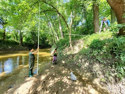 It's all about balance: Students study how water movement shapes landscape of local creek
