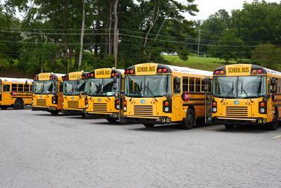 Alexander City school buses