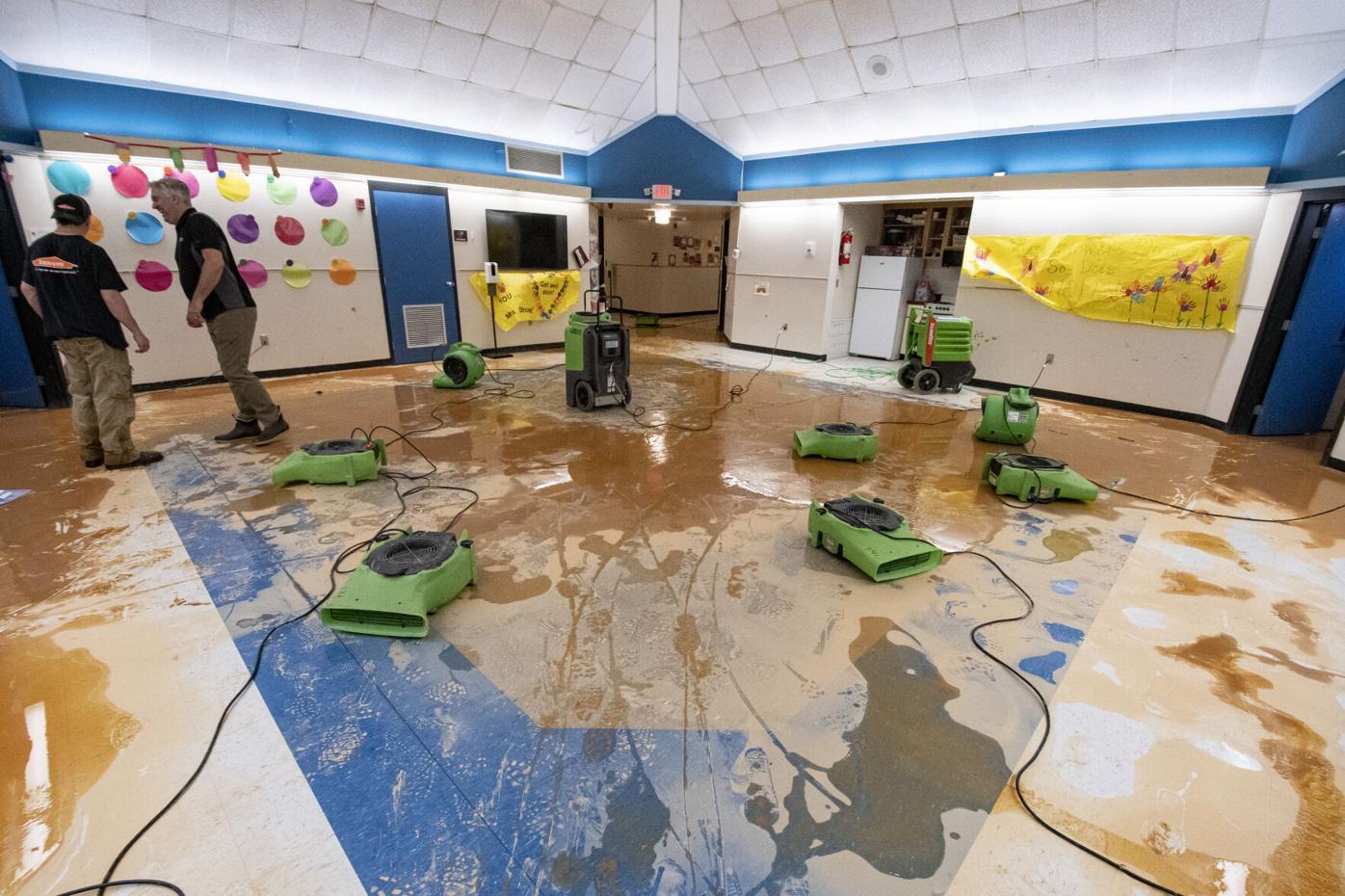 Flooding at Jim Pearson Elementary School