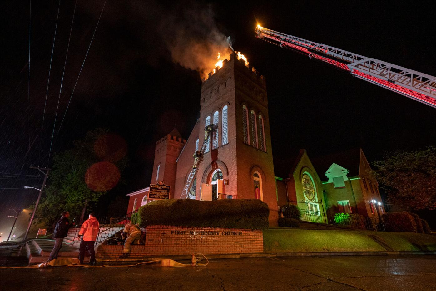 Fire at First United Methodist Church