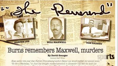 """The Reverend"": Burns remembers Maxwell, murders"