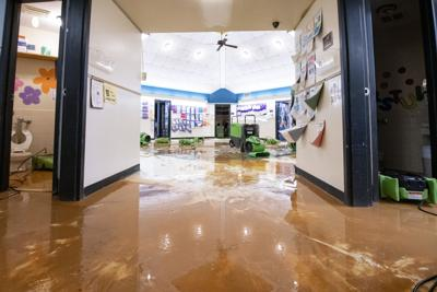 Flooding at Jim Pearson Elementary School