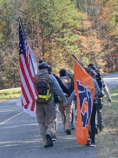 Veterans march Iron Ruck