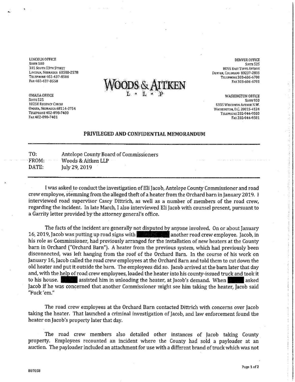 Woods & Aitken Internal Investigation