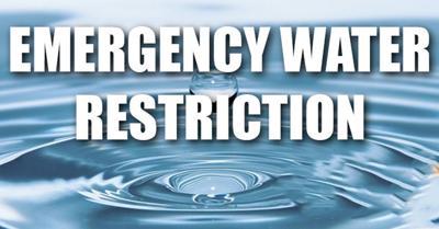 Emergency Water Restriction