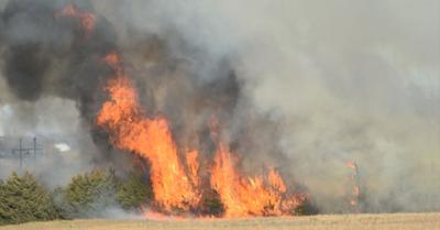 Grass fire located southeast of Neligh