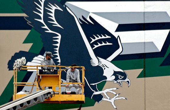 Mural marks Falcon pride at Yuba City's River Valley High