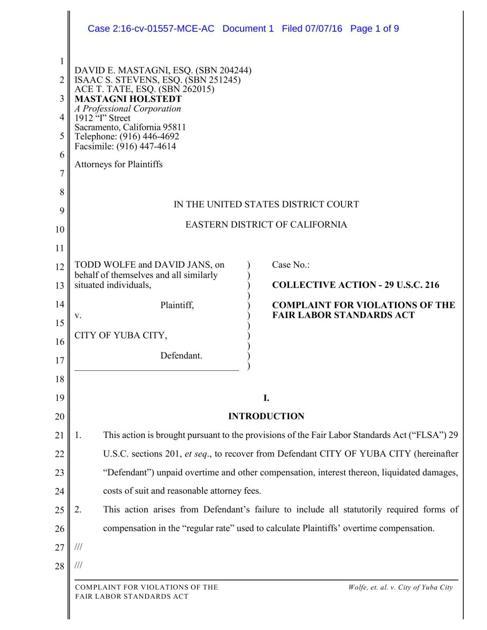 Yuba City faces lawsuit over OT pay | News | appeal-democrat com