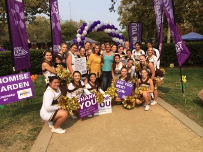 YCHS cheerleaders support Alzheimer's walk