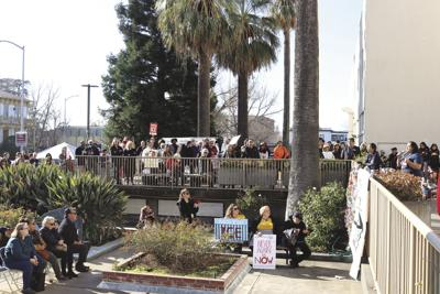 Protest at Yuba County Jail