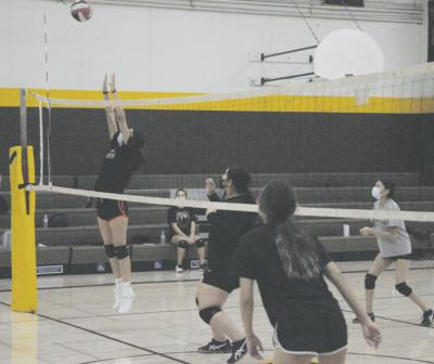 Williams volleyball under COVID safety protocol