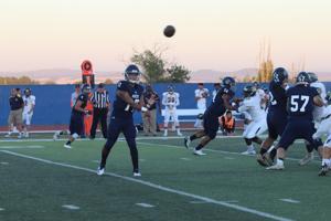 Yuba College quarterback Desmond Samples