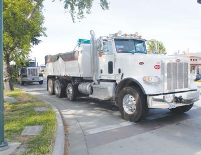 Trucks with debris