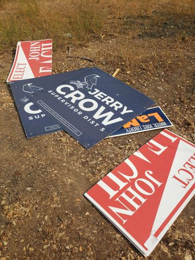 Theft, vandalism to candidate signs