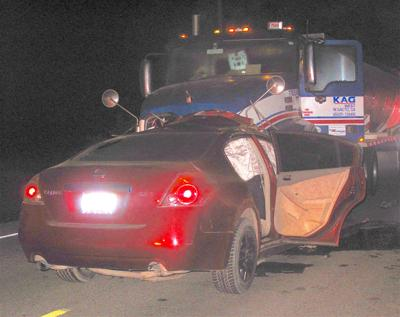 Driver of Nissan dies in head-on with big-rig
